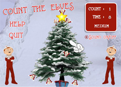 Count the Elves Flash Game