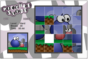 Slide puzzle Flash game